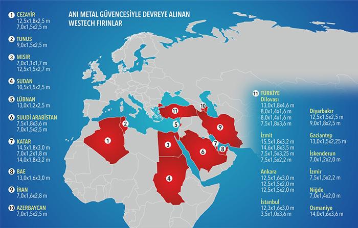 ANI METAL- WESTECH Galvaniz Fırınları Harita